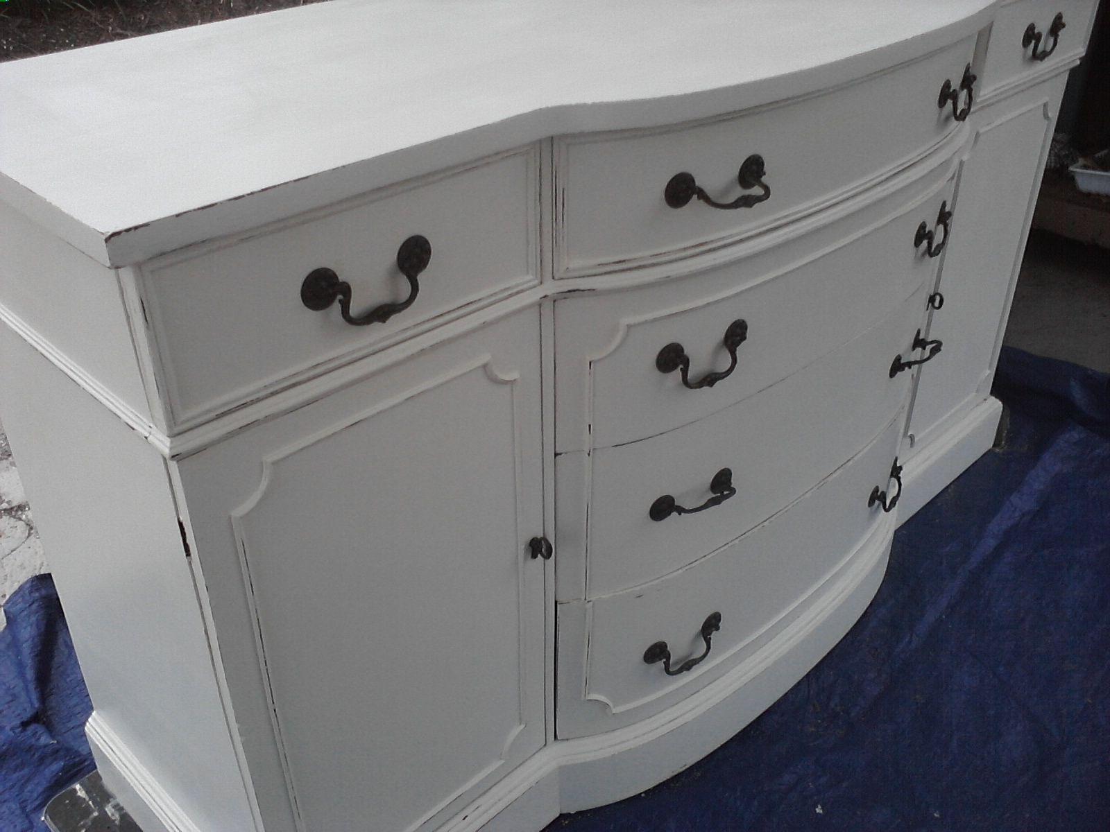 1940 S Distressed Buffet Morganton Furniture Dove Tail