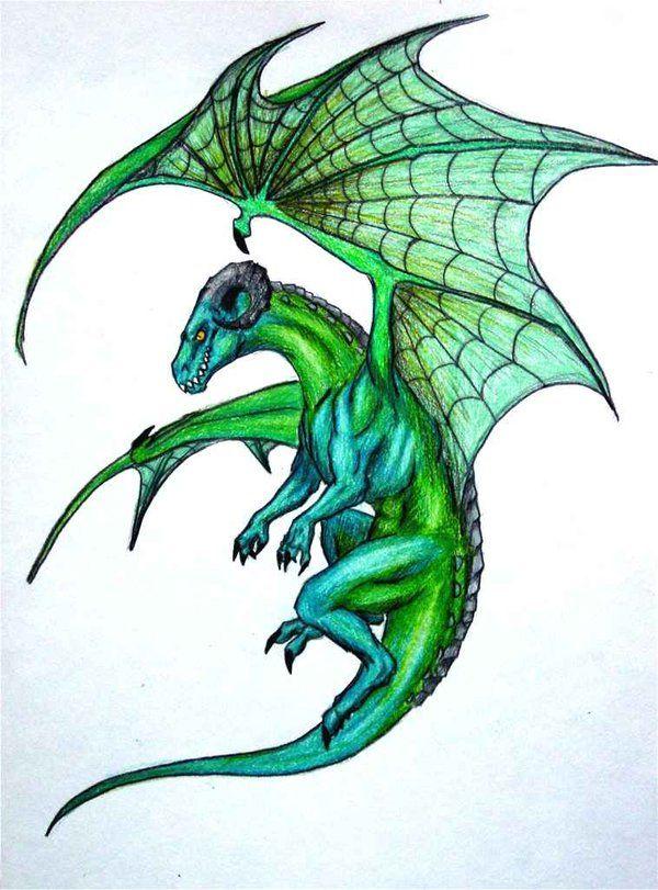 Dragon Side View : dragon, Dragons