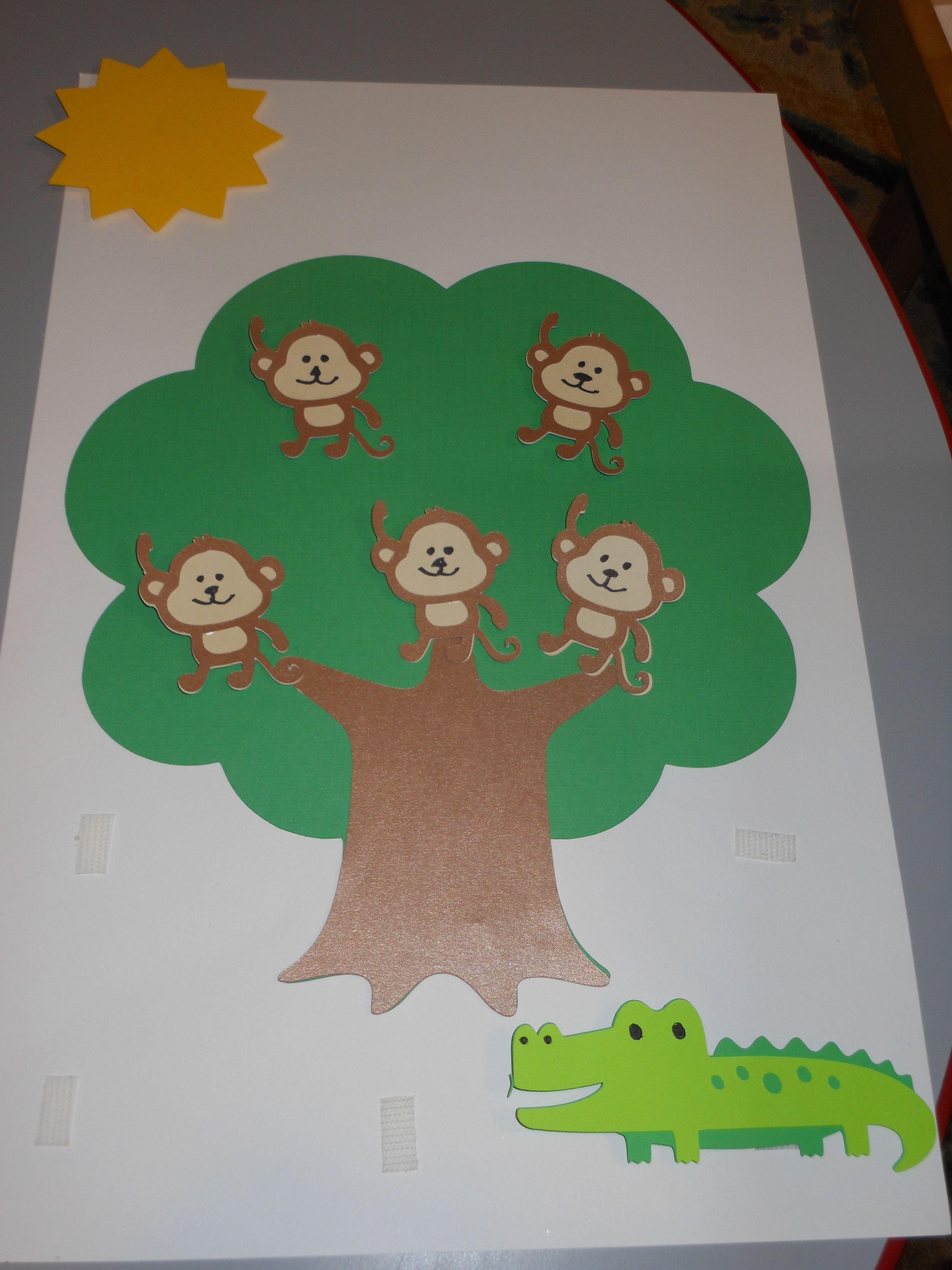 5 Little Monkeys Sitting In The Tree