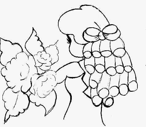 Boneca De Costas Com Rosas Com Imagens Pintura Em Tecido