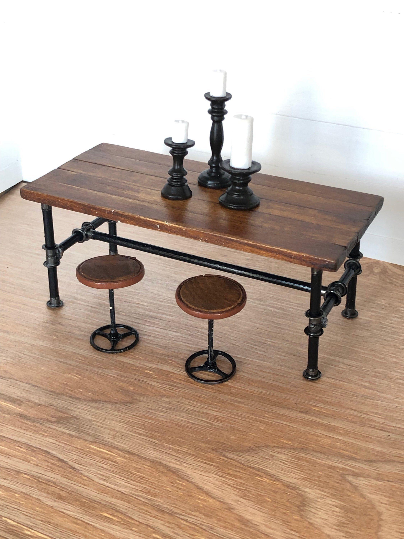 Miniature Table, Dollhouse Table, Modern Dollhouse, Dollhouse Furniture, Miniature Furniture, Miniat #miniaturekitchen