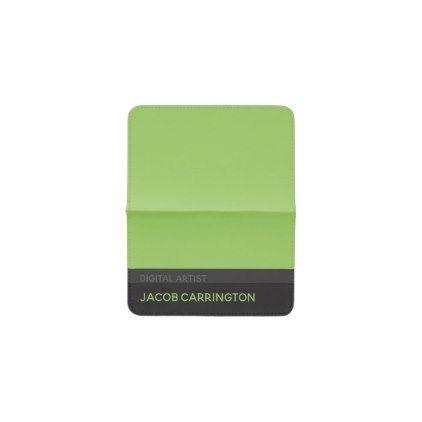 Simple modern charcoal and green business card holder minimalist simple modern charcoal and green business card holder minimalist office gifts personalize office cyo custom colourmoves