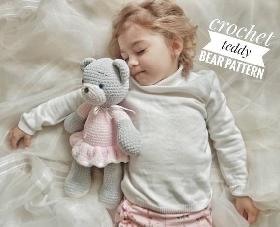Crochet Teddy Bear Pattern - Amigurumi Crochet Animal Pattern - Patterns for crochet - Crochet Toys Patterns #crochetteddybears