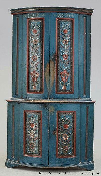 Wohnen, Antike Bemalte Möbel, Decoupage Möbel, Art Furniture, Schwedische  Deko, Schwedisches Design, Scandinavian Style, Europäischer Stil, ...