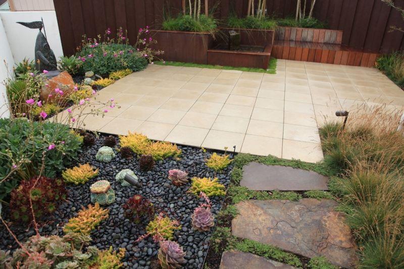 download kiesbeet an der terrasse | siteminsk, Garten und Bauten