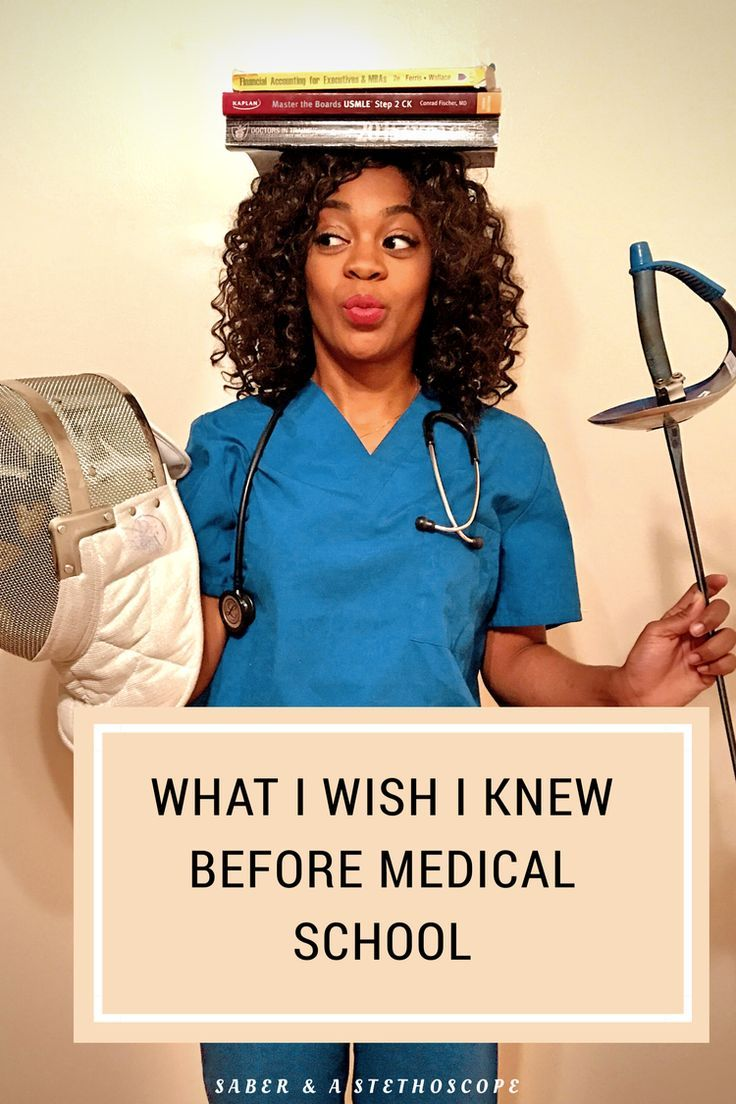What I Wish I Knew Before Medical School — Saber & A Stethoscope