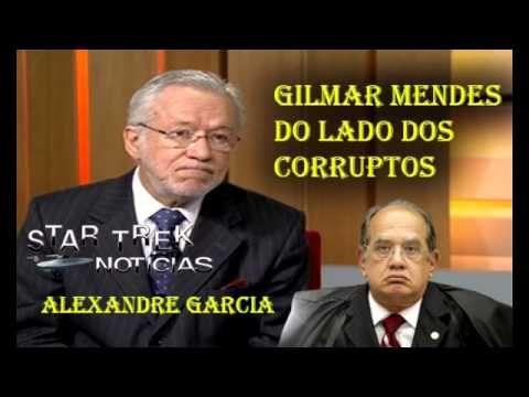 ALEXANDRE GARCIA DETONA MINISTRO GILMAR MENDES