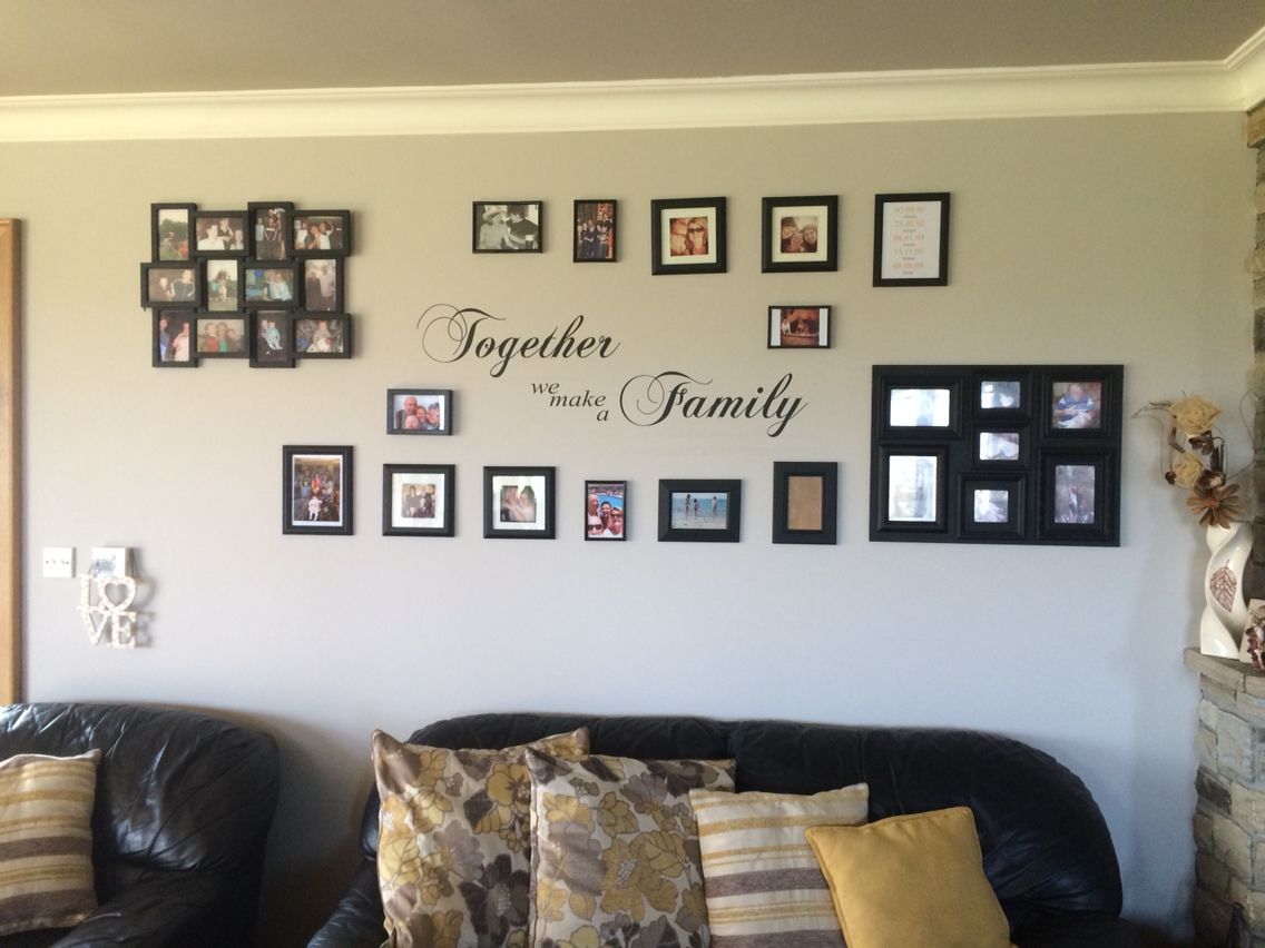 A blank wall filled with family memories