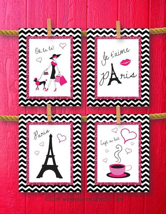 Paris Decor Baby Girl Nursery Decor, Art Print, Girls Room Decor ...