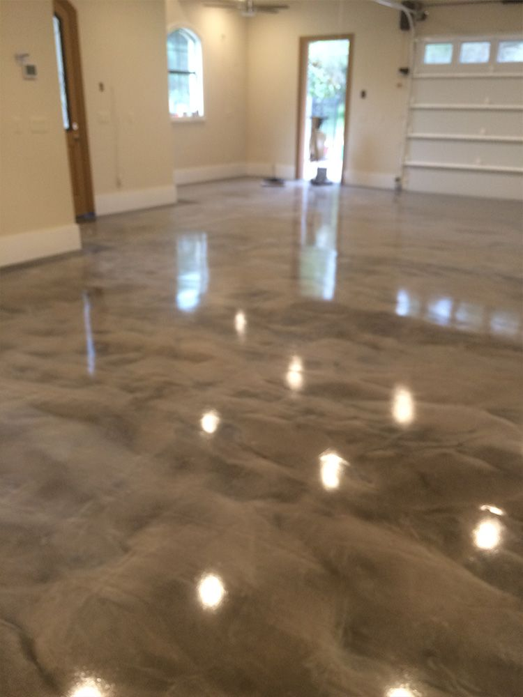 Gray white epoxy metallic floor ideas for my home for White flooring ideas