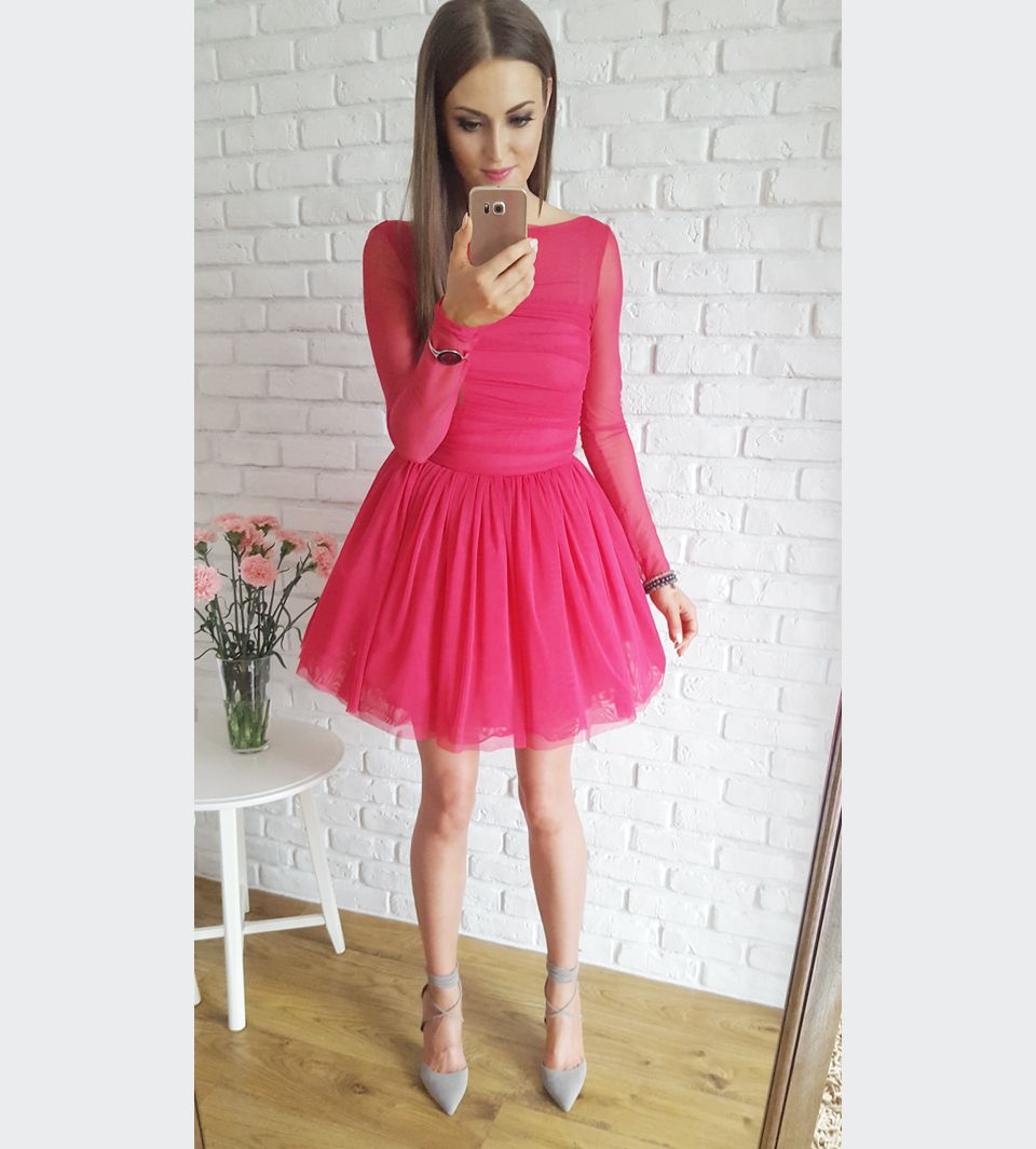 801be022fe Raspberry tulle dress   Tiulowa malinowa sukienka na randkę 269 zł  www.illuminate.pl