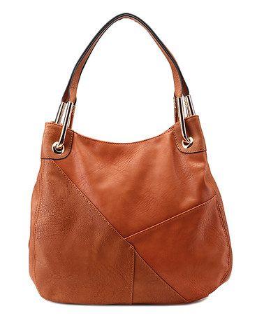 Look what I found on #zulily! Cognac Brown Delle Shoulder Bag #zulilyfinds