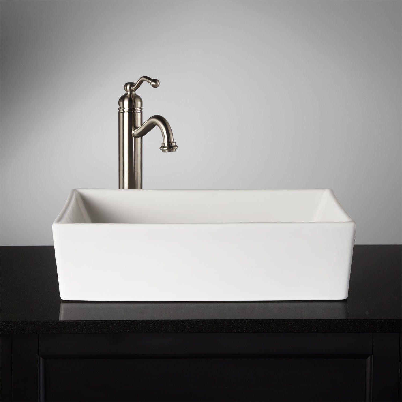 Nice Abbett Rectangular Porcelain Vessel Sink