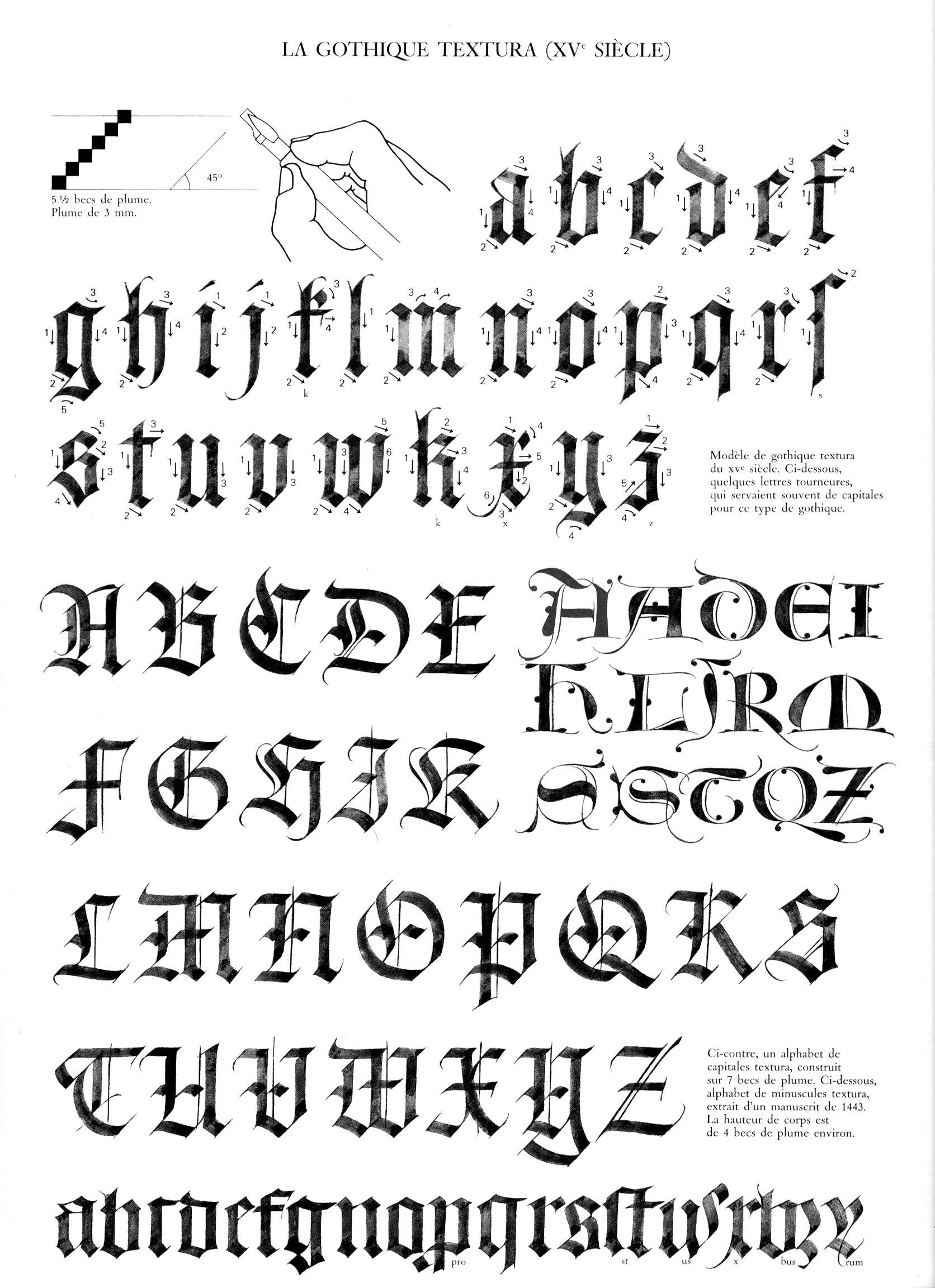 Gothic textura alphabet calligraphy pinterest g tico Pinterest calligraphy