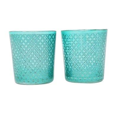 "Frosted Glass Votive Candle Holder Tea Light Tulip Shape 2.25/"" High Set of 12"