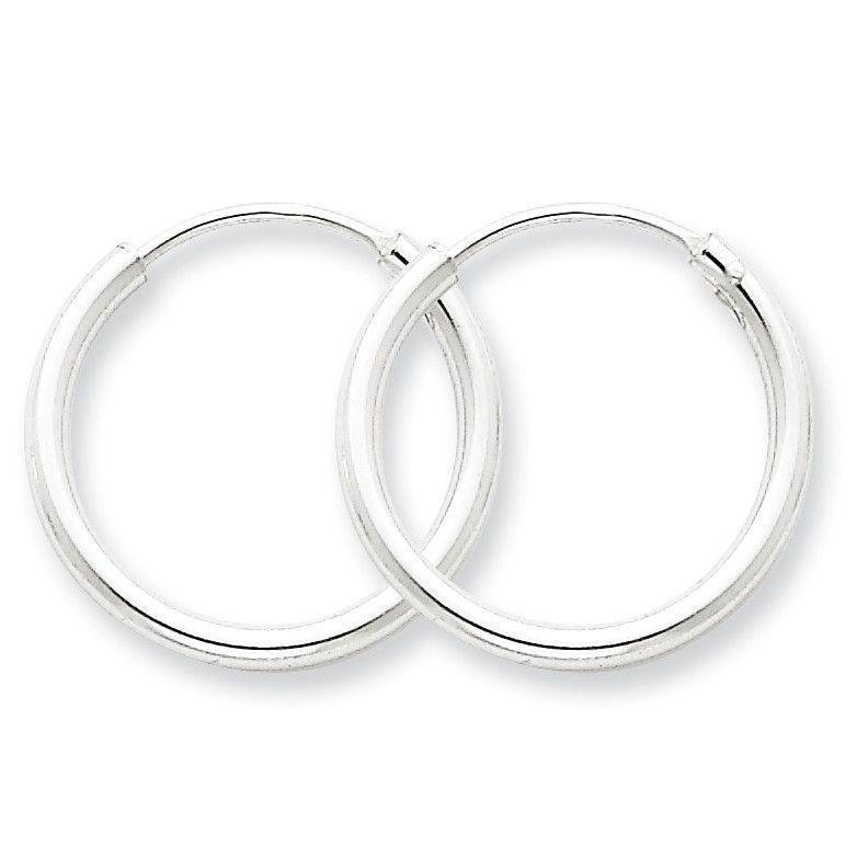 Sterling Silver 2mm Hoop Earrings QE4367