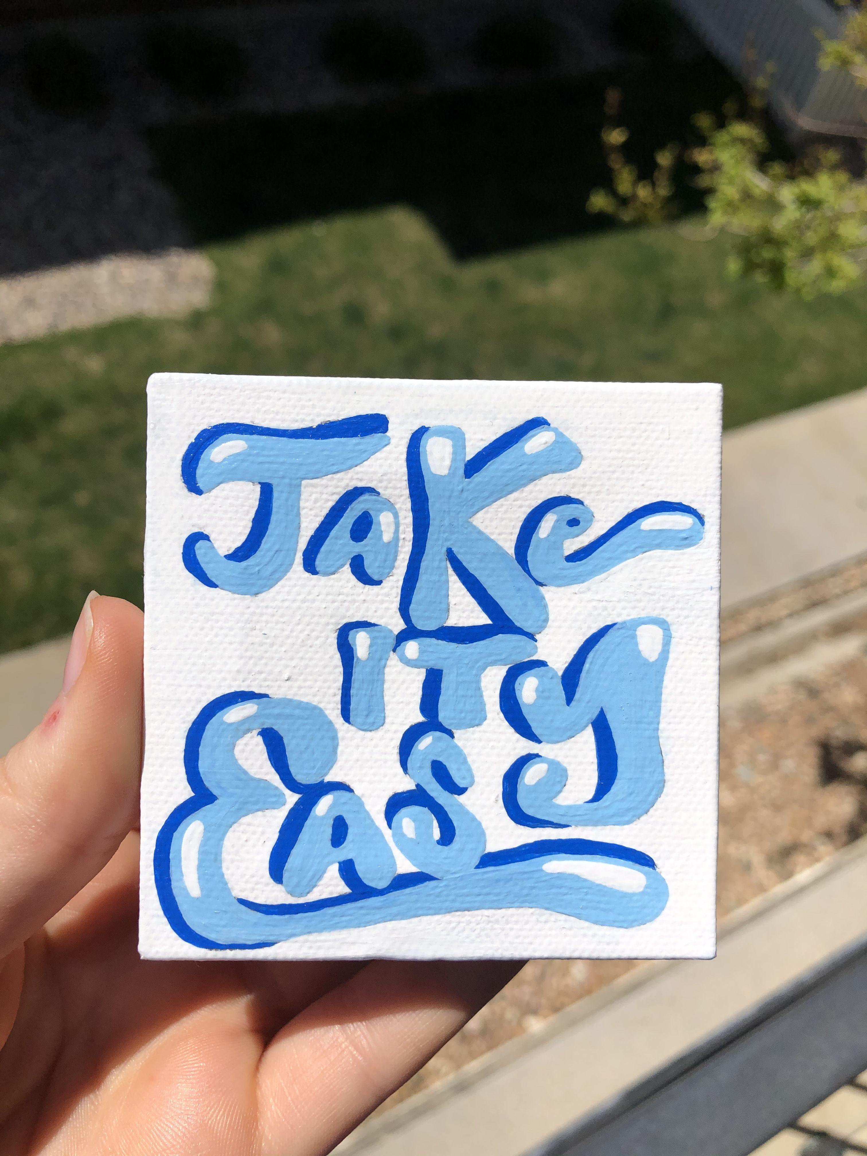 Mini Canvas Vsco Tiktok Mini Canvas Art Cute Canvas Paintings Painting Art Projects