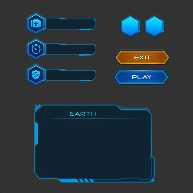 Set Of Buttons With Good Organized Layers Ui Elements Buttons Panel In Blue Sci Fi Style, Buttons, User, Interface PNG Transparent Clipart Image and PSD File for Free Download