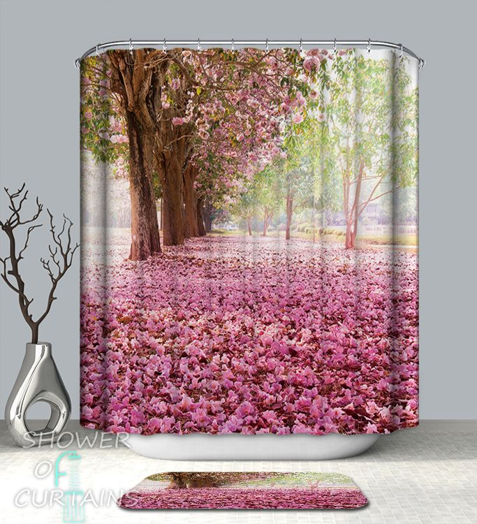 Pink Trees Avenue Shower Curtain - HXTC0333