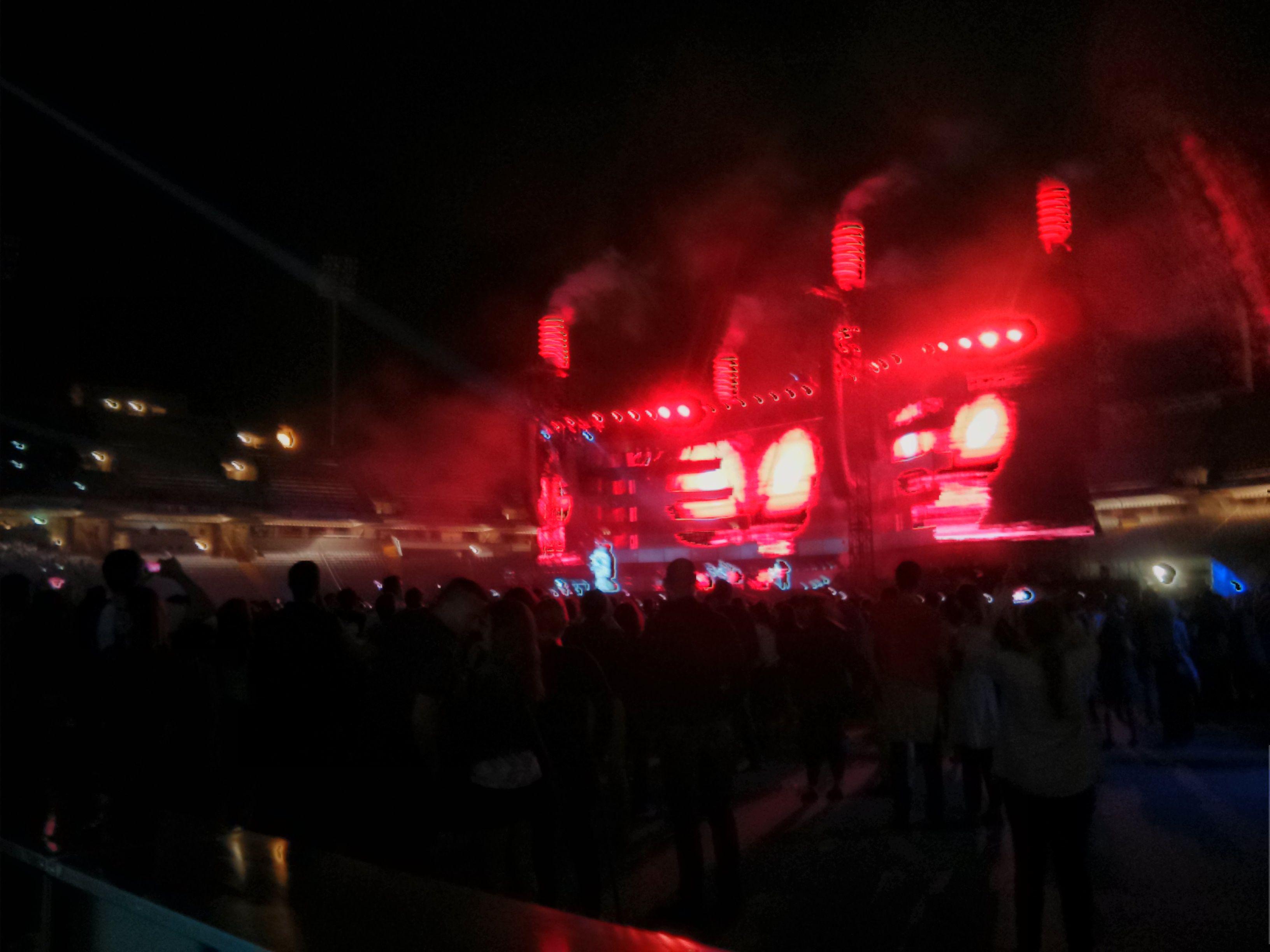 Muse en el concierto de Barcelona. Junio 2013