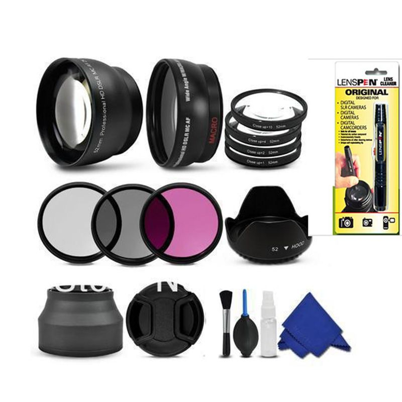52mm Lens Filter Accessory Kit for Photo and Video Camera