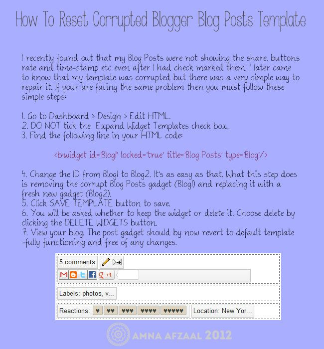 SHD Studio: How To Repair Corrupted Blogger Blog Posts