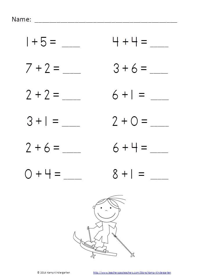 Winter Friends Fun and Games Addition Practice Packet