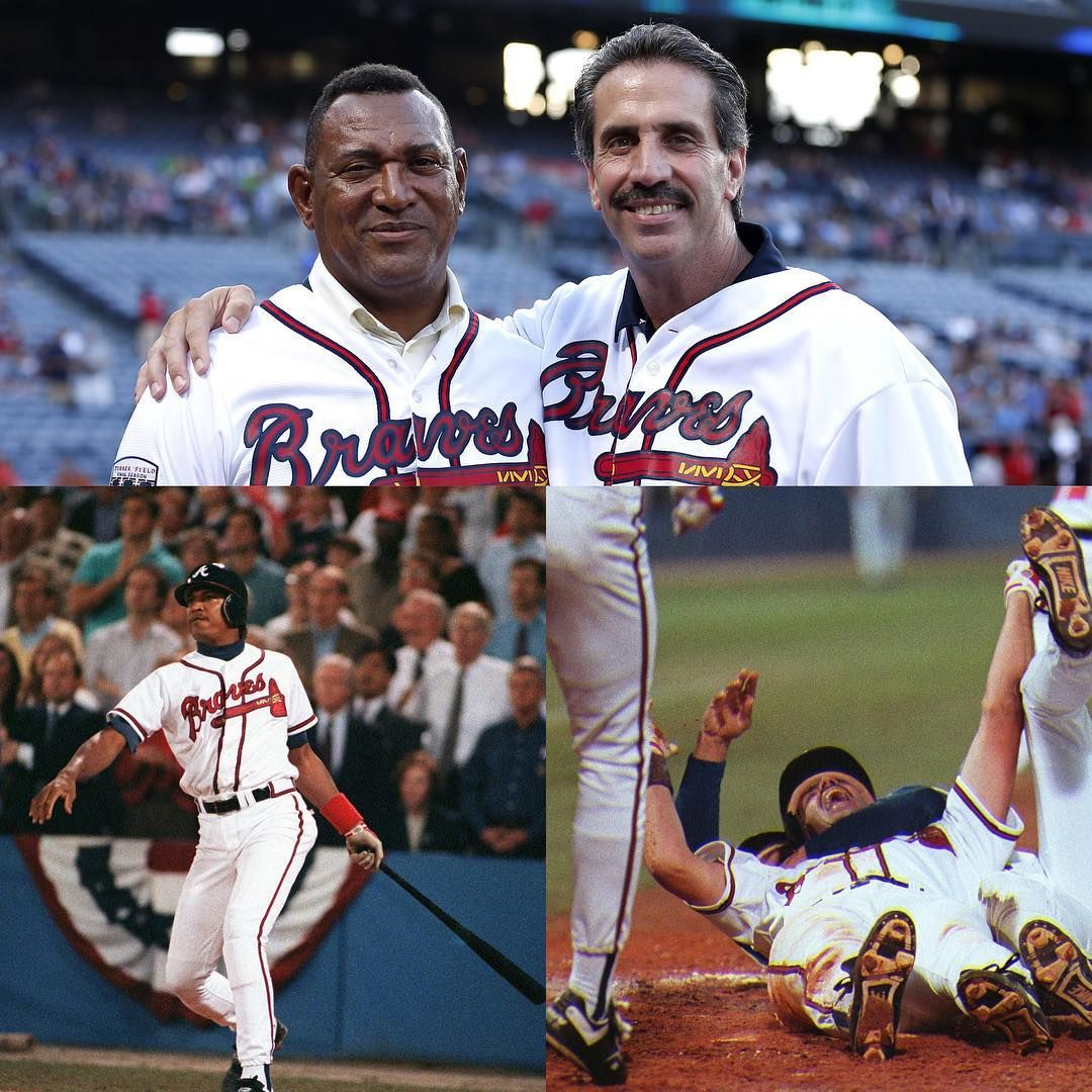 Here Comes Bream Here S The Throw To The Plate He Is Safe Braves Win Braves Win Braves Win Bravesalumni Atlanta Braves Braves Atlanta Braves Baby