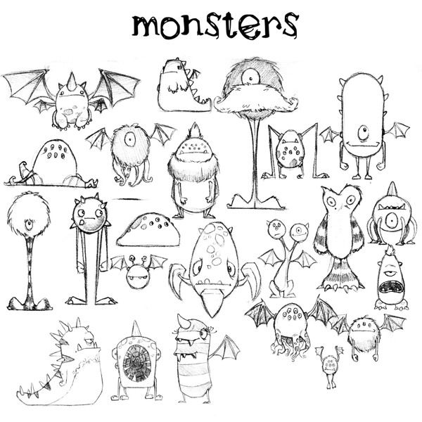 Line Drawing Monster : Monster project d modeling by jeff harvey via behance