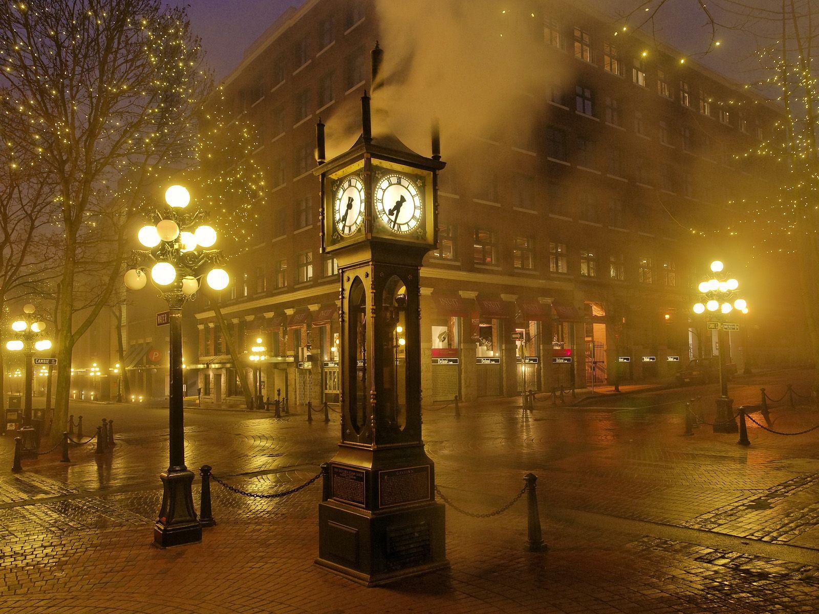 Steam Clock Gas Town Vancouver B C Fotografcilik Nadas