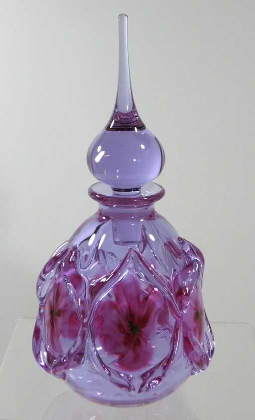 Light Iridized Pink Perfume Bottle Rare