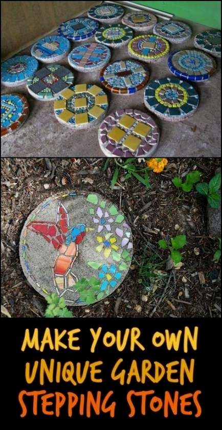 Amazing DIY Garden Stepping Stone Ideas #outdoorherbgarden