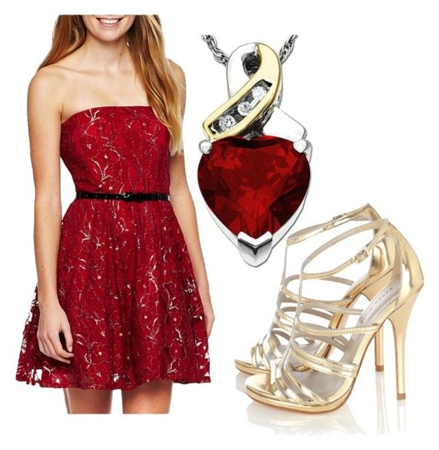 """Riveting Red"" by lifelovedesign ❤ liked on Polyvore featuring Karen Millen and Lab"
