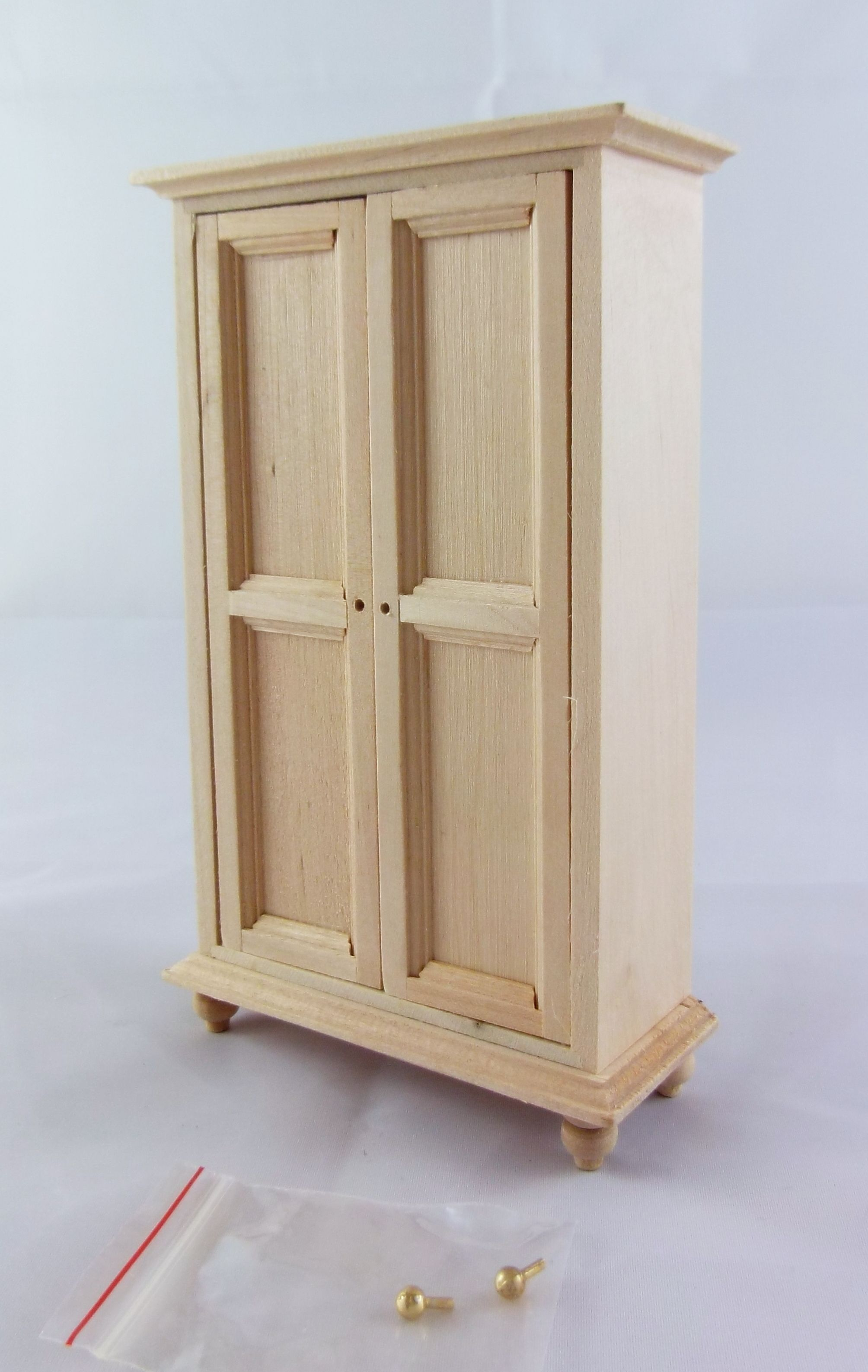unfinished dollhouse furniture. Dolls House Miniature 1:12 Unfinished Bedroom Furniture Natural Wood Wardrobe Dollhouse N