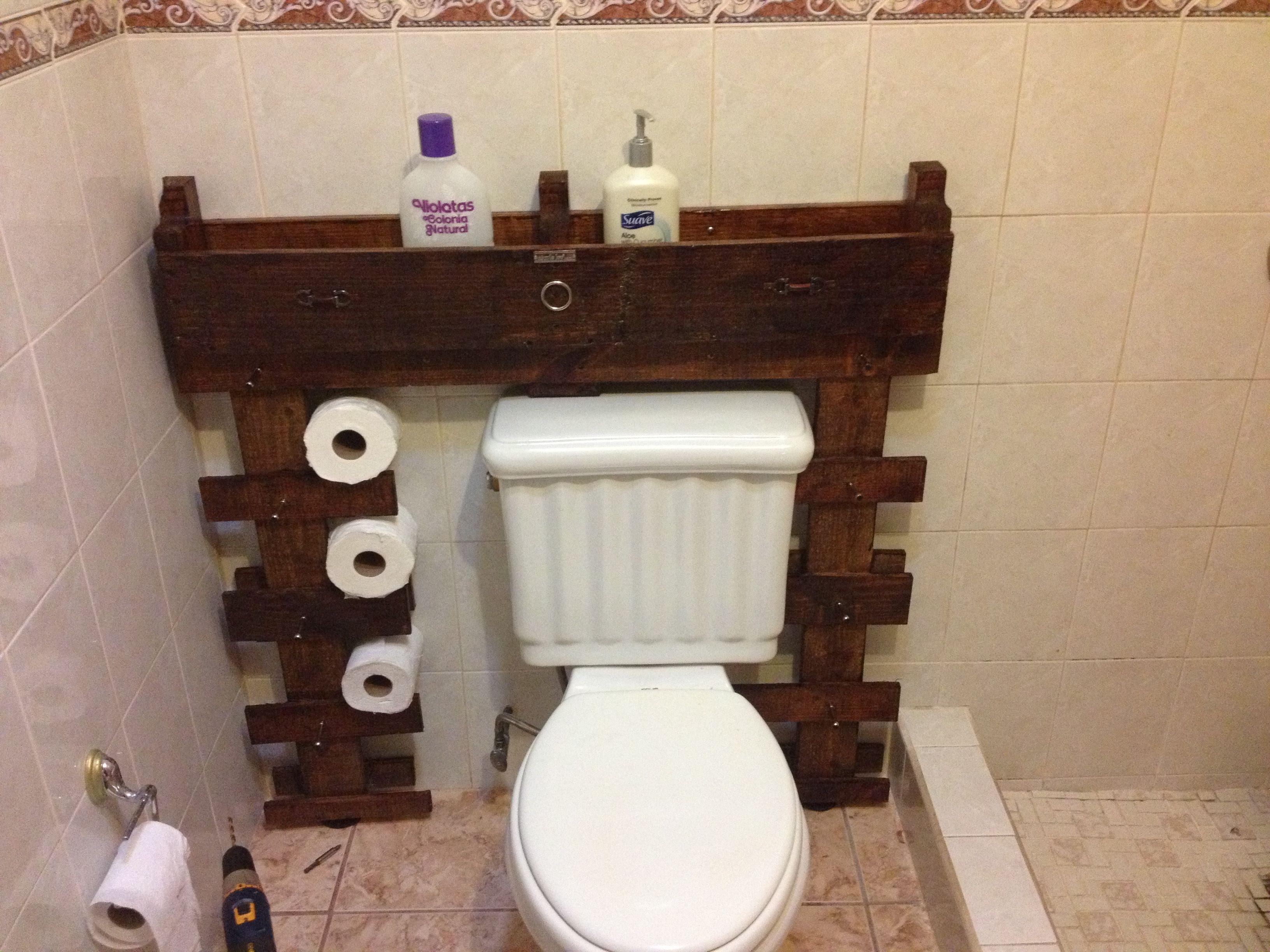 Organizador para el baño materiales reciclados paletas, piezas de ...