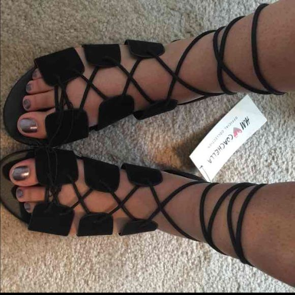 1b3a64f1e522 H M Coachella Collection gladiator sandals NWT. Lace up gladiator sandals.  Very cute   perfect for festivals H M Shoes Sandals
