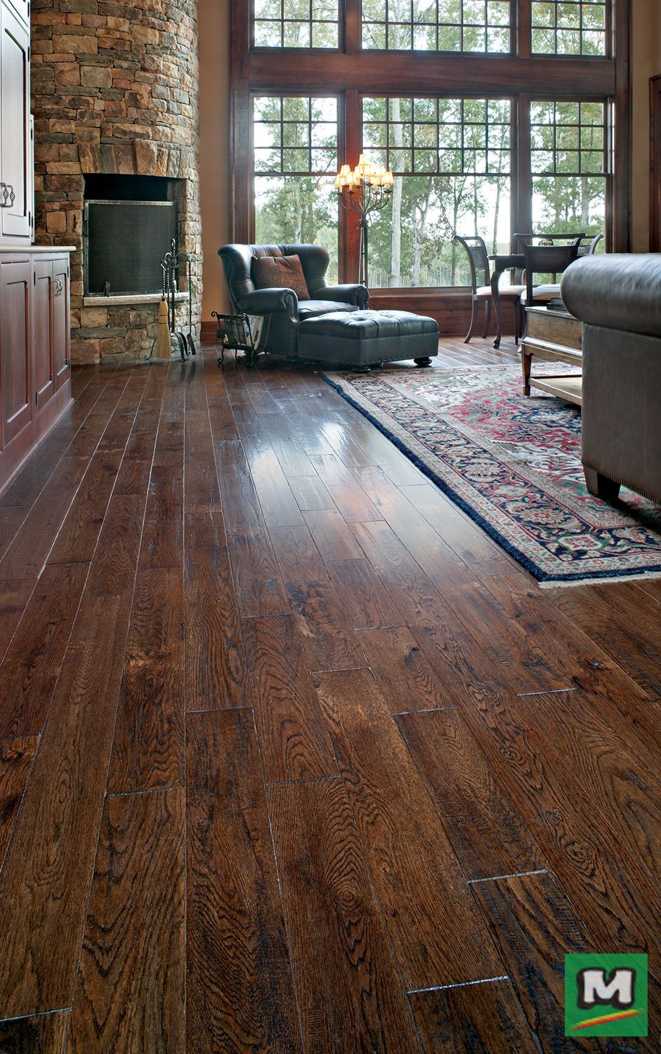 For a floor that's full of warmth and character, try Great