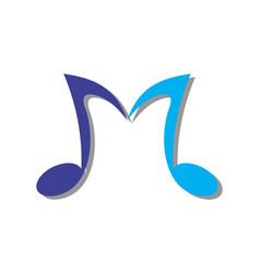 Letter M Music Note Logo Icon Music Note Logo Lettering Alphabet Music Logo Design