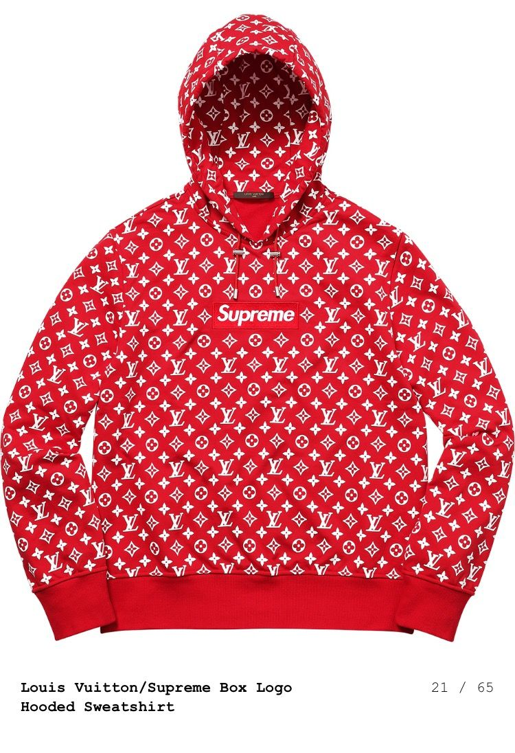 Supreme x Louis Vuitton hoodie  a3f45afd3fe2