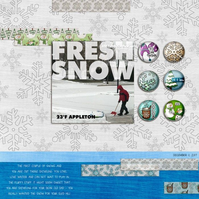 Marvelous Designer Surprises: New Brads And Tapes And Freebies, Oh My. Winter  Scrapbook Page Created With ... Photo Gallery