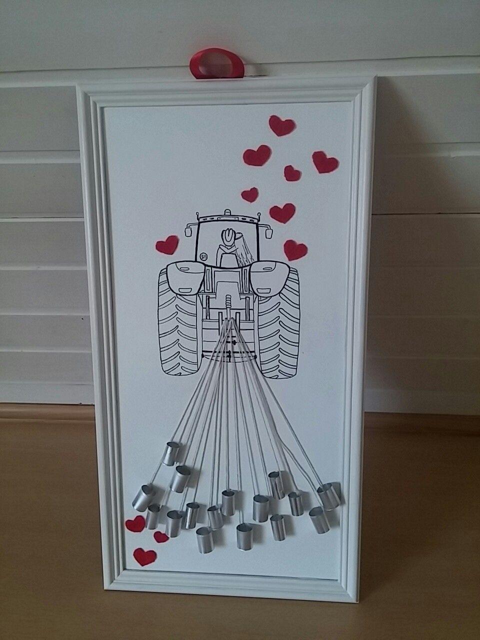 hochzeitsgeschenk mit traktor bridal shower wedding