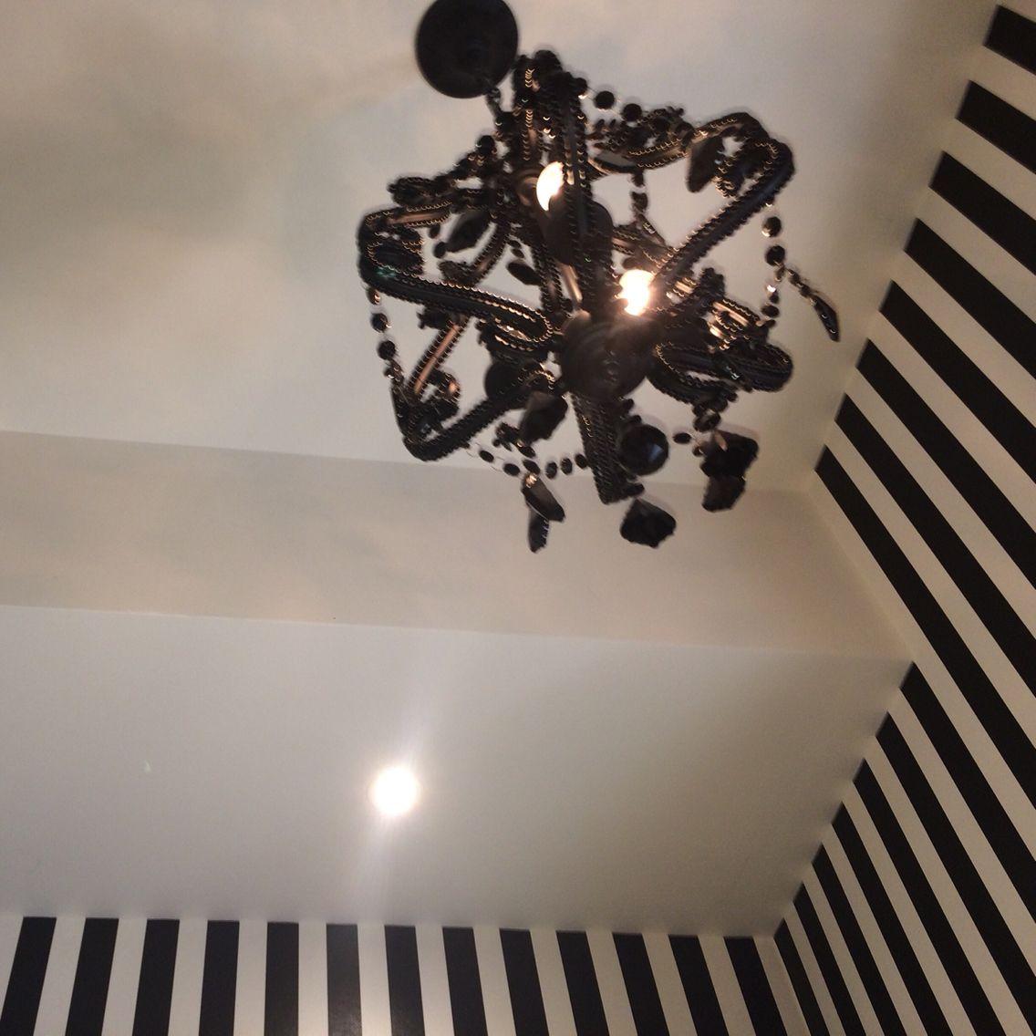Striped Wallpaper Installation By Cuttingedgewallpaperingau Melbourne Hangers