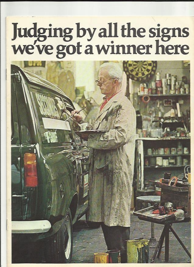 FORD ESCORT 6 cwt AND DE LUXE 8 cwt VANS SALES BROCHURE 1969 Van - sales brochure