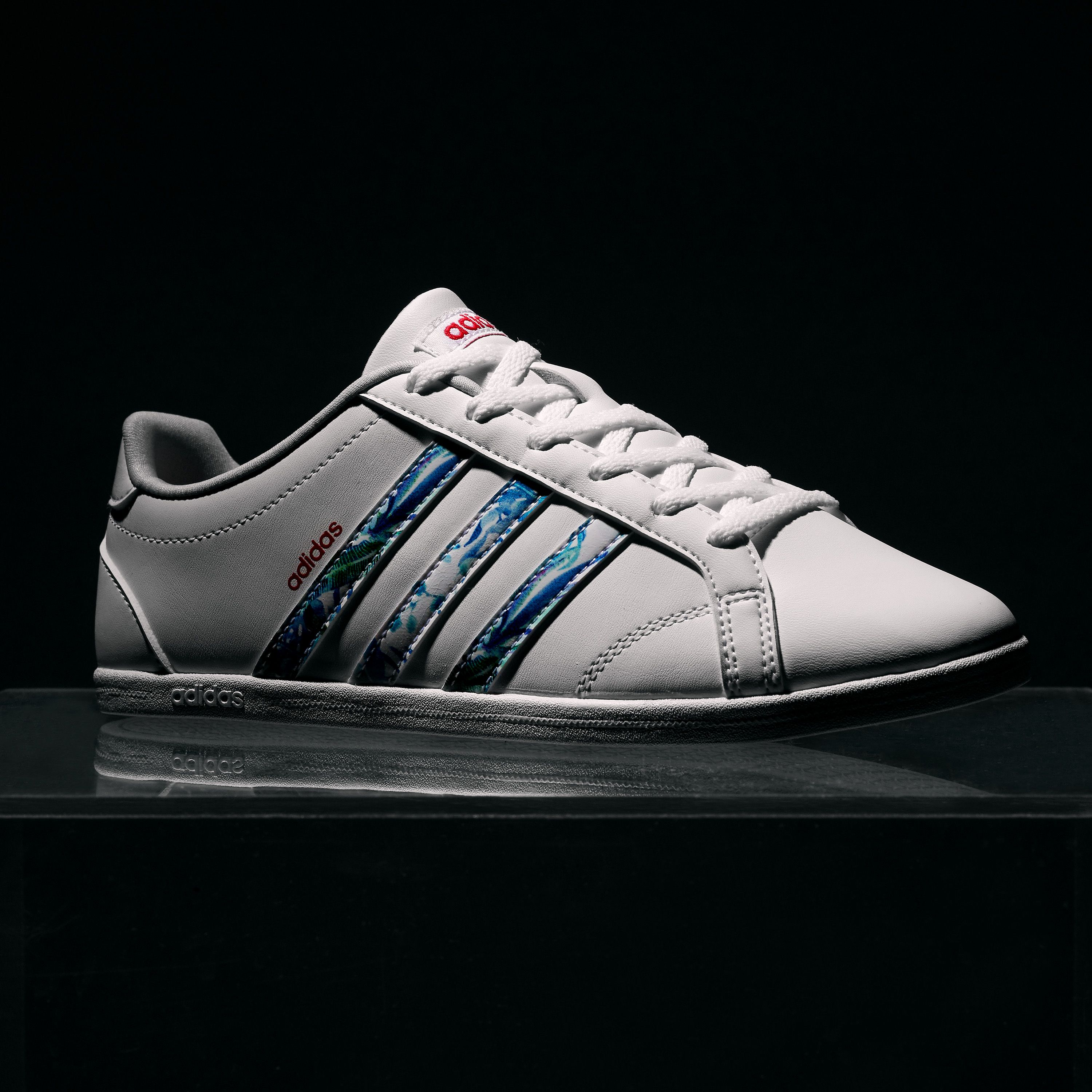 The adidas Coneo trainers with a floral