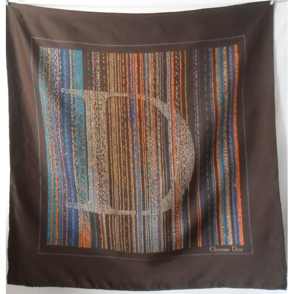 seta, christian DIOR, écharpe, scarf, sciarpa, Foulard Carré en Soie ... 7b35bcae1e5