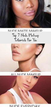 Photo of Top 7 Nude Makeup Tutorials For You – Make-up  Matte Eyes Makeup Tutorial #eyesm…