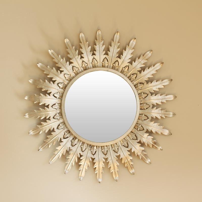 espejo sol metal plateado