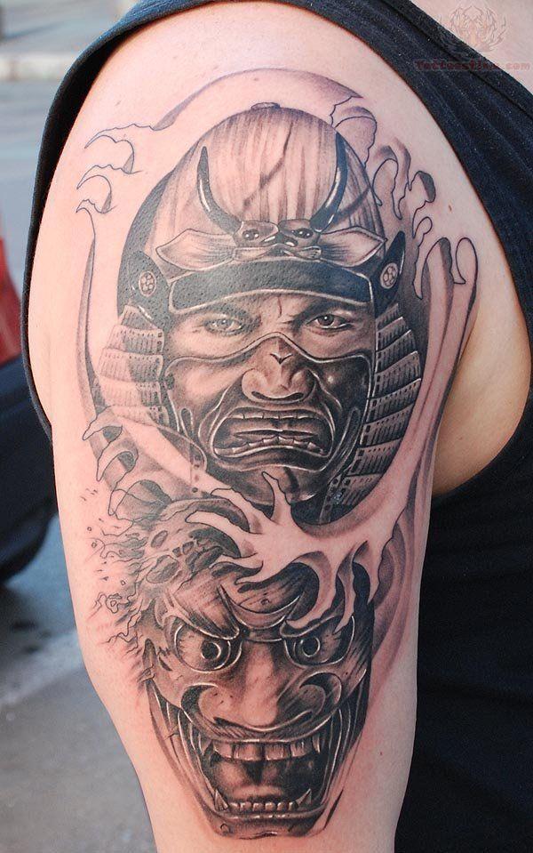 Samurai Heads Half Sleeve Tattoos | Sleeve Ideas, Pt 2 ...