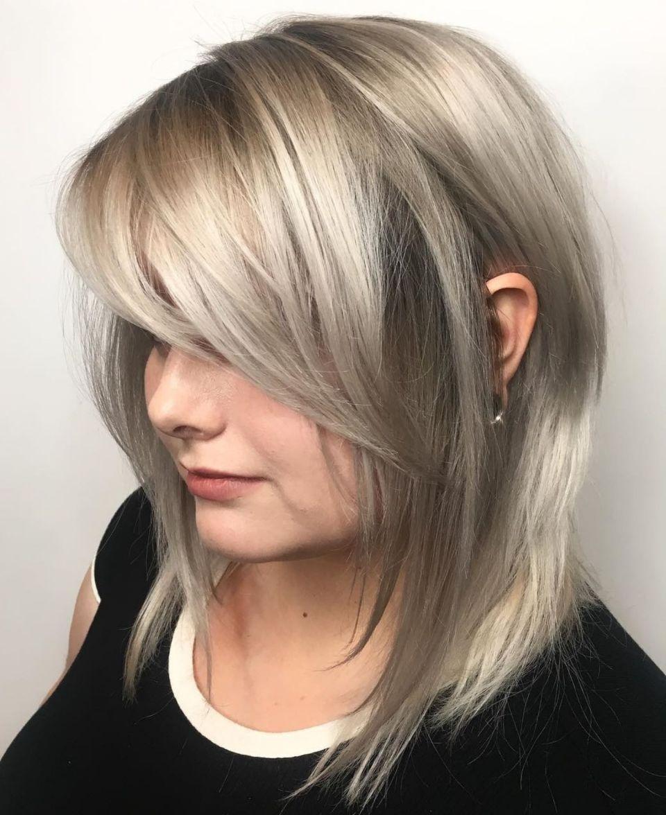 70 Perfect Medium Length Hairstyles For Thin Hair In 2020 Medium Length Hair Styles Side Bangs Hairstyles Hairstyles For Thin Hair