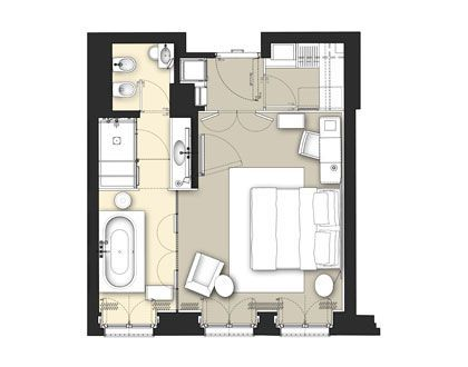typical w hotel guestroom plans Google Search Hotel